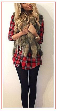 fur-pelt-vest-plaid-flannel