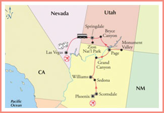 california-nevada-utah-arizona-map