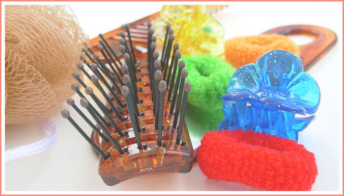 hair-brush-hair-ties-loofa-comb-hair-clips