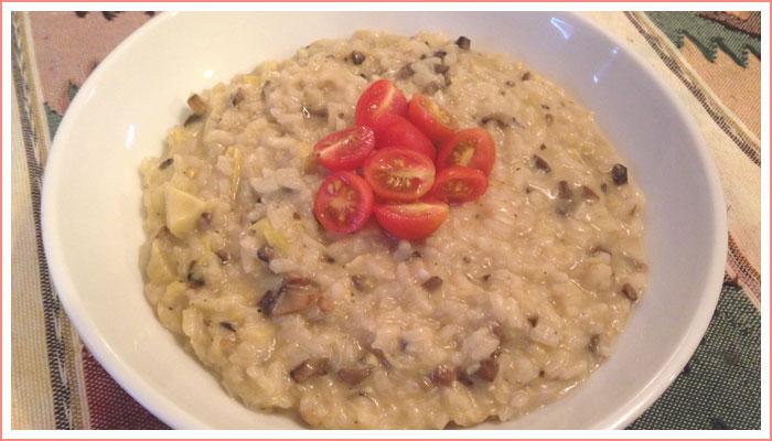 mushroom-artichoke-risotto