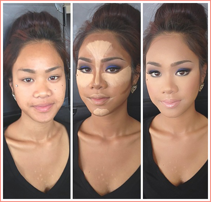 makeup-foundation-contouring-highlighting