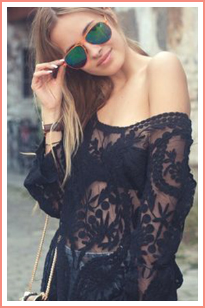 black-lace-shirt-summer-outfit