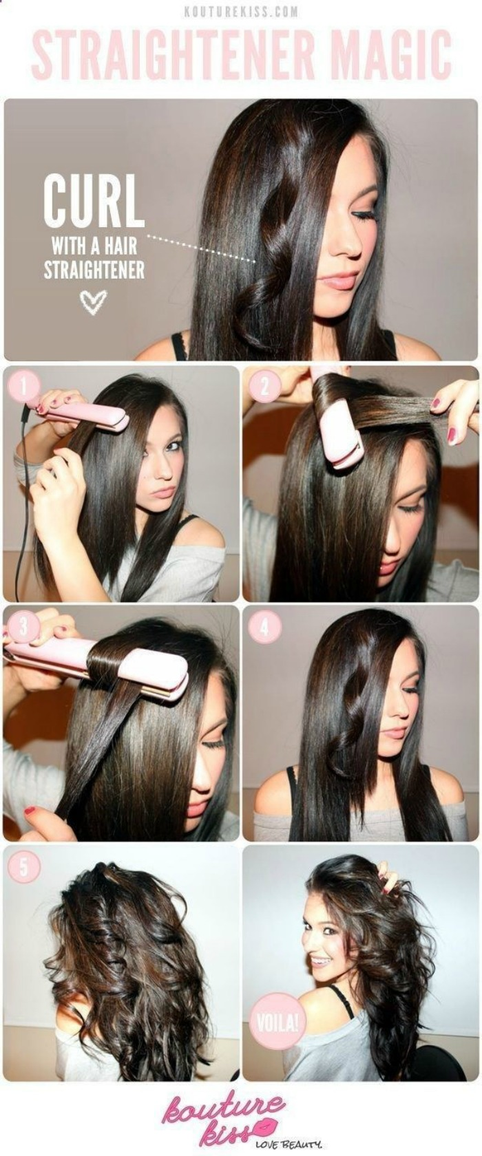 Curling with a Straightener