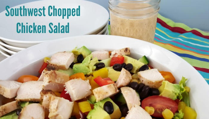 Southwest Chopped Chicken Salad is an easy weeknight dinner