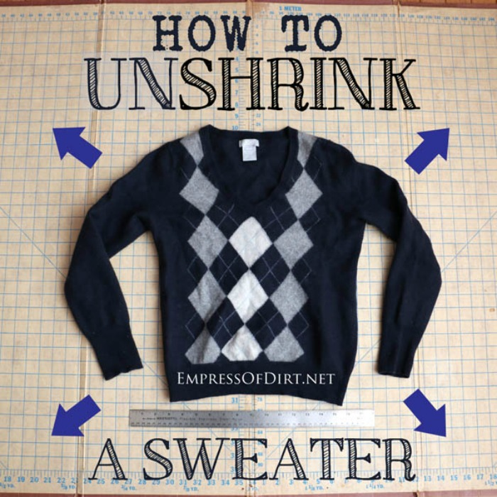 How to Unshrink a Sweater