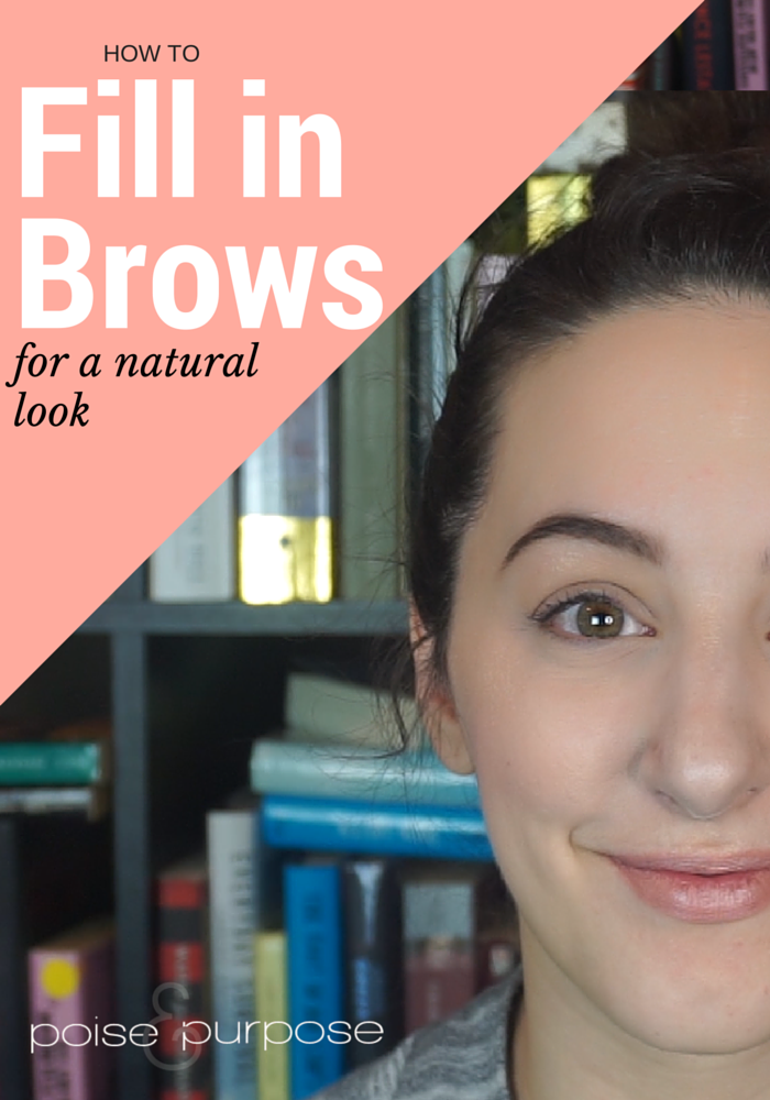 how to fill in brows for a natural look