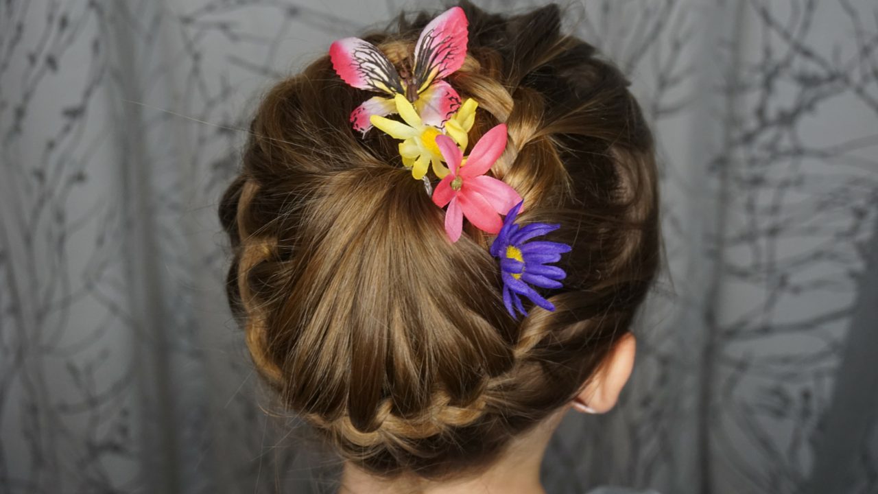 kids braided hairstyle ballet