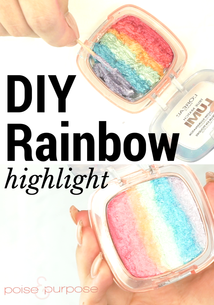 DIY Rainbow Highlight
