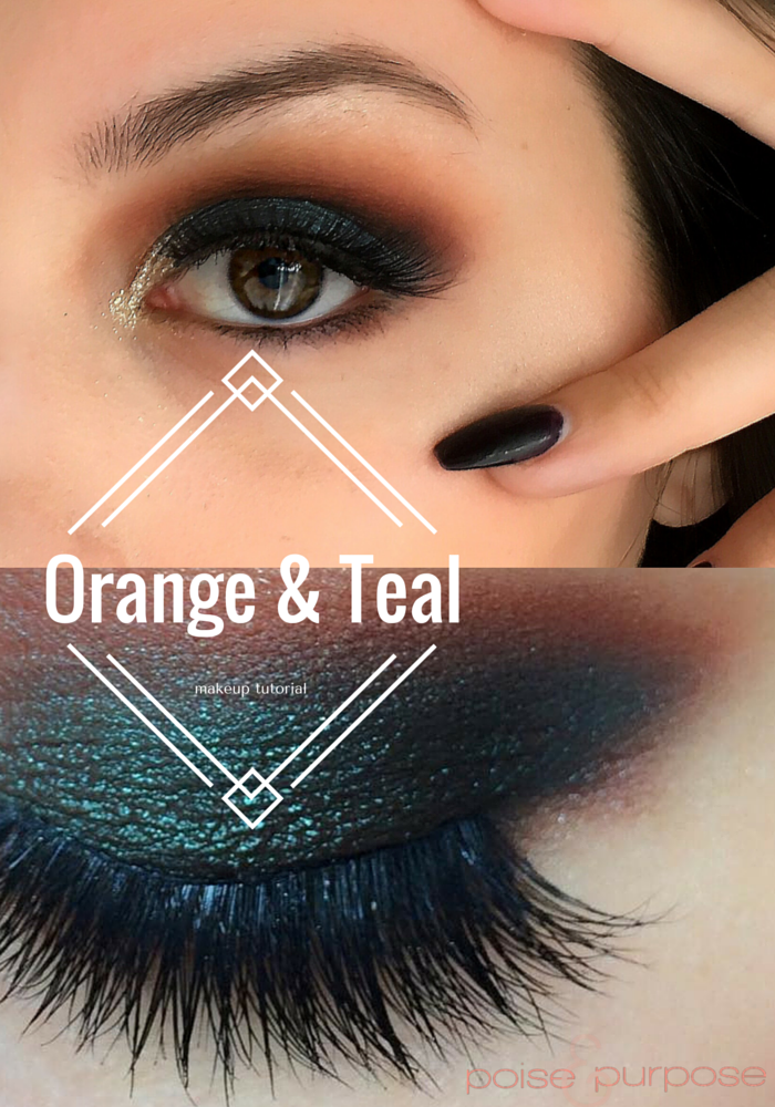 Poise Makeup Professional: Orange And Teal Makeup Tutorial