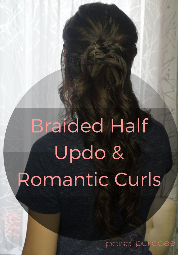 Braided updo romantic curls