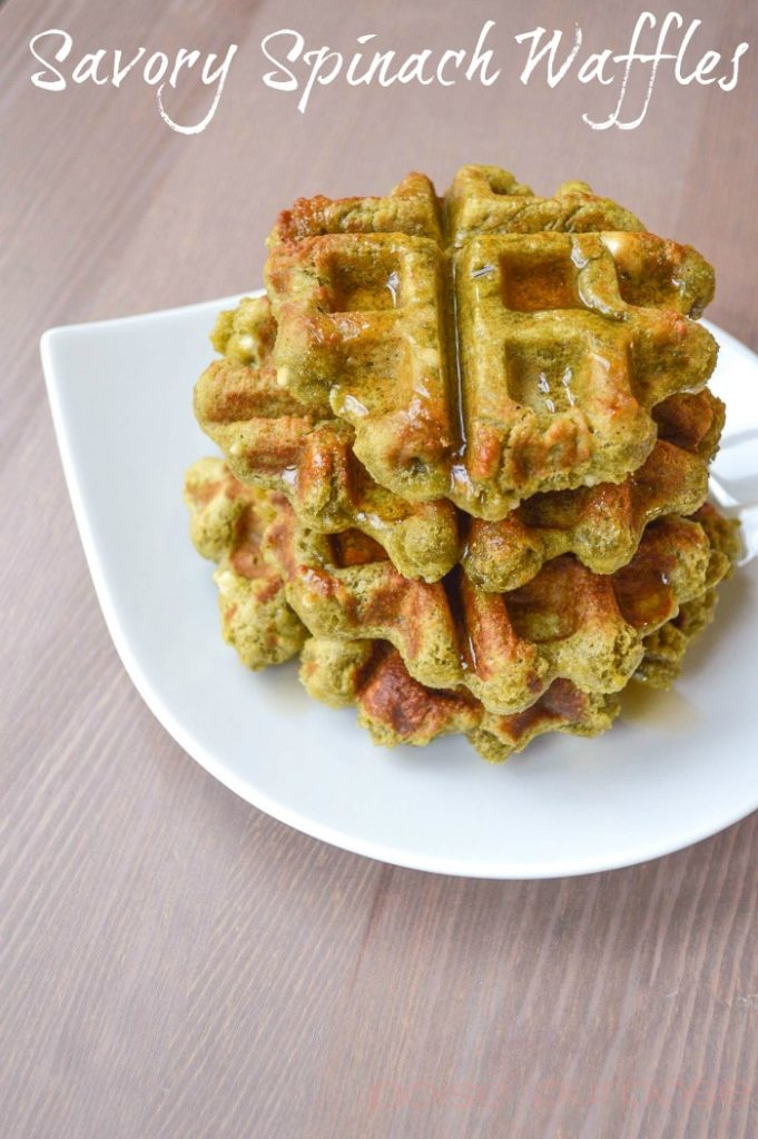 savory spinach waffles