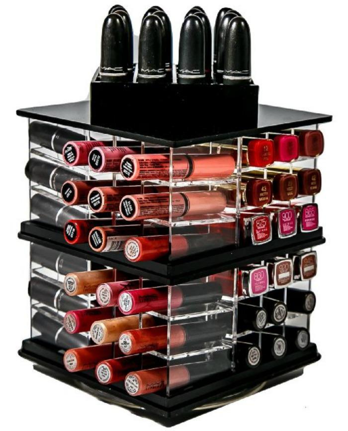 Spinning Acrylic Lipstick Holder Organizer