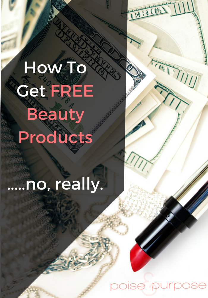 How To Get Free Beauty Productsu2026.No Really.