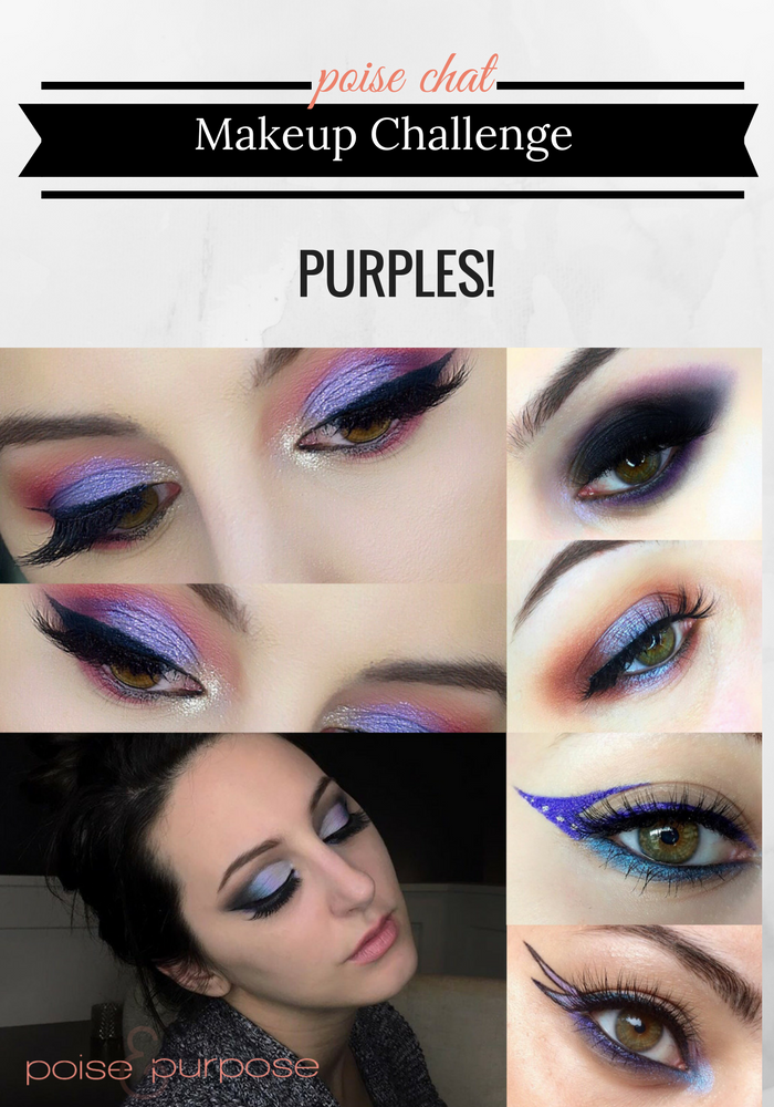 Poise Makeup Professional: Poise Chat Makeup Challenge: Purples