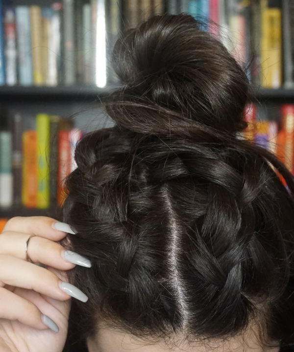 French Braided Mini Bun