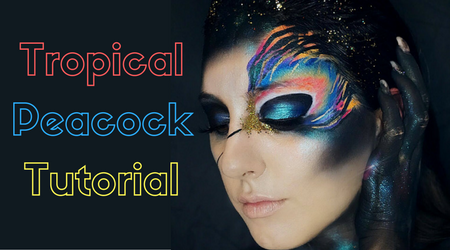 Tropical Peacock Halloween Tutorial